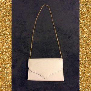 White Satin Dyeable Prom Handbag Bag Purse Clutch